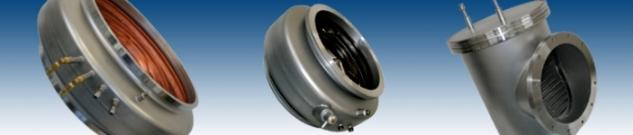 HSR AG, Balzers - Vacuum technology, cryogenics, angle valves, diffusion pumps > Products > Baffles